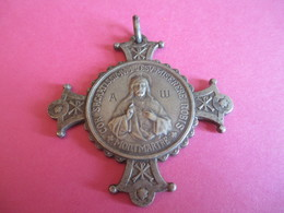 Grande Médaille Sacré Cœur De Montmartre / Sans Ruban / Voeu National/Adoration Du Sacré Coeur/Début XXéme       CAN735 - Religión & Esoterismo