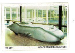 CHROMO IMAGE AUTOMOBILE AUTOCOLLANT N°300 MERCEDES REKORDWAGEN - Autres