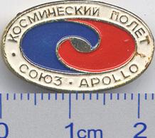 241 Space Soviet Russia Pin. Soyuz-Apollo - Space
