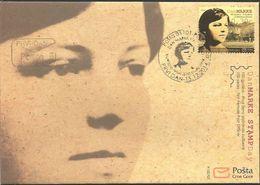 CG 2014-361 Stamps Day-first Woman Postman, CRNA GORA MONTENEGRO, FDC - Berufe
