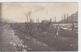 Eisenbahn- Oder Dammbau (verm.Linthebene) - Fotokarte       (P-110-60619) - Trains