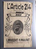Partition Musicale L'article 214 Dranem - Noten & Partituren