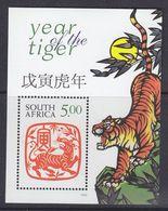South Africa 1998 Year Of The Tiger M/s ** Mnh (37485F) Promo - Blokken & Velletjes