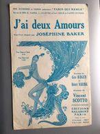 Partition Musicale J'ai Deux Amours Josephine Baker - Noten & Partituren