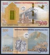 ARMENIA 500 DRAM 2017 UNC NOAH'S ARK COLLECTOR COMMEMORATIVE BANKNOTE IN FOLDER - Armenia