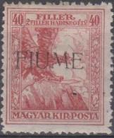 Fiume 1918 18+2 1v.MH - Fiume