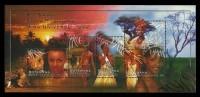 BOTSWANA 1999 Miss Universe Beauty Pagent Mpule Kwelagobe Souvenir Sheet Lion Animals MNH - Botswana (1966-...)