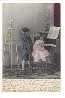 19272 - Couple Enfants Au Piano  Circulée 1925 830 - Groupes D'enfants & Familles