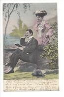 19274 - Couple Monsieur à La Lecture Et Madame écoute Circulée En 1905 / 827 - Couples
