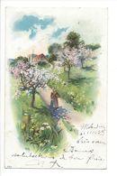 19275 - Paysage Et Arbres En Fleurs Avec Femme  Circulée En 1903 / 449 - Femmes