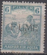 Fiume 1918 6f. 1v Mh - Bezetting 1° Wereldoorlog