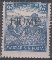 Fiume 1918 25f. 1v Mh - Bezetting 1° Wereldoorlog