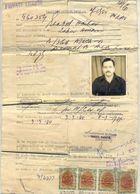 R27- Pakistan Driving License Revenue Stamps Used On Original Document. Sindh  Province. - Pakistan