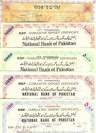 R29- Lot Of 5 NBP & UBL National Bank Of Pakistan Cumulative Deposit Certificates. - Pakistan