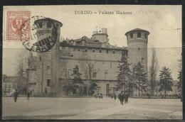 ITALIA REGNO ITALY KINGDOM CARTOLINA PALAZZO MADAMA TORINO CENT. 2 STEMMA SABAUDO POST CARD - Palazzo Madama