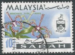 Sabah (Malaysia). 1965-68 Orchids. 10c Used. SG 428 - Malaysia (1964-...)