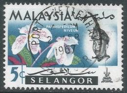 Selangor(Malaysia). 1965 Orchids. 10c Used. SG 140 - Malaysia (1964-...)
