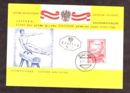Enveloppe Premier Jour 1962 - Autriche - Cheval D'arçon - Gymnastiek