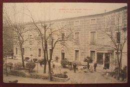 (34).JOLIE CARTE ANIMEE. LAMALOU LES BAINS.L'HOTEL DU MIDI.1906.CACHET De CONVOYAGE ST PONS A BEDARIEUX. - Lamalou Les Bains