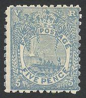 Fiji, 5 P. 1893, Sc # 58, Mi # 33, MH. - Fiji (...-1970)