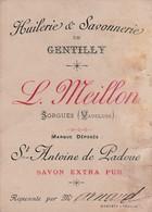 CARTE VISITE REPRESENTANT / GENTILLY / L.MEILLON / HUILERIE ET SAVONS / ST ANTOINE DE PADOUE - Cartoncini Da Visita