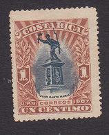 Costa Rica, Scott #59, Mint No Gum, Statue Of Juan Santamaria, Issued 1907 - Costa Rica