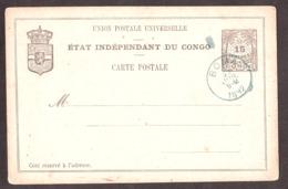 Carte Postale Entier Postal Etat Indépendant Du Congo - Cachet Boma 27 Juillet 1892 - Congo Belge