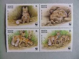 KYRGYZSTAN Protecciön De La Fauna WWF RENARD Zorro Yvert 135 /138 ** MNH - Otros - Europa
