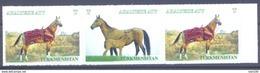 2017. Turkmenistan, Horses, 3v In Strip, Mint/** - Turkménistan