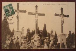 (30). NOTRE-DAME DE ROCHEFORT.LE CALVAIRE. JOLIE CARTE  ANIMEE +++.1908. - Rochefort-du-Gard