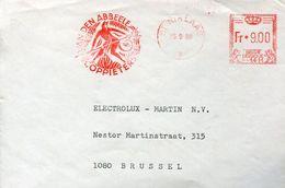 30340 Belgium,red Meter/freistempel/ema/1980 St.niklaas,showing Hell Devil,enfer Diable,teufel,circuled Cover - Machine Stamps (ATM)