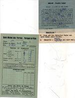 2 Documents Scolaires De SAINT MICHEL DES PERRAIS - PARIGNE LE POLIN -  Bulletin De Notes  (102318) - Diplômes & Bulletins Scolaires