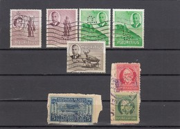 11561-LOTTICINO DI N°. 7 FRANCOBOLLI PERFIN - USATI - MAURITIUS-CUBA - Francobolli