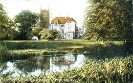 BEDS - BLUNHAM CHURCH AND RECTORY FROM THE IVEL 1906 Bd287 - Autres