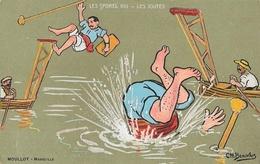Illustration Ch. Beauvais: Les Sports VIII: Les Joutes - Edition Moullot - Carte Non Circulée - Beauvais
