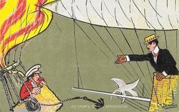 Illustration Ch. Beauvais: Les Sports XXI: L'Aérostation - Edition Moullot - Carte Non Circulée - Beauvais