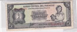 BANKNOTE BILLET PARAGUAY 5 CINCO GUARAINIES LA MUJER PARAGUAYA 1952-TBE-BLEUP - Paraguay
