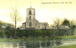 BEDS - BIGGLESWADE CHURCH FROM THE IVEL Bd290 - Autres