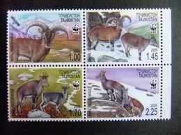 TAJIKISTAN 2005 Proteccion De La Fauna WWF El Bharal O Oveja Azul Del Himalaya O Naur Yvert 296 / 299 ** MNH - Otros - Europa