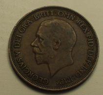 1936 - Grande Bretagne - Great Britain - ONE PENNY, GEORGE V, Smaller Head, KM 838 - D. 1 Penny