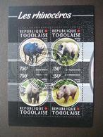 Rhinoceros. Nashörner  # Togo # 2015 Used S/s # Rhino Mammals - Rhinozerosse