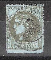 CERES De BORDEAUX N° 39 A BORD DE FEUILLE Obl Cachet à Date , TB - 1870 Emission De Bordeaux