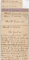 VP11.844 - Guerre 39 / 45 - 7 Lettres De Mme Denise ? à VILLEMOMBLE - Manuscripts
