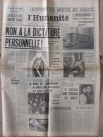 L'Humanité - 22 Sept 1962 - Non à La Dictature Personnelle - Rentrée Scolaire Catastrophique - Journaux - Quotidiens