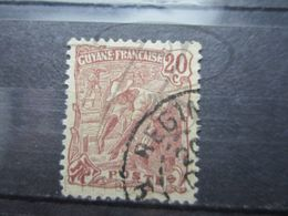 "VEND BEAU TIMBRE DE GUYANE N° 55 , OBLITERATION "" REGINA "" !!! - Guyane Française (1886-1949)"
