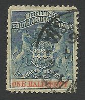 Rhodesia, British South Africa Company, 1/2 P, 1891, Sc # 1, Mi # 16, Used.. - Great Britain (former Colonies & Protectorates)