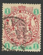 Rhodesia, British South Africa Company, 1 P, 1896, Sc # 27, Mi # 26II, Used. - Great Britain (former Colonies & Protectorates)