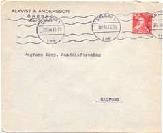 Enveloppe Kuvert - Pub Reklam Alkvist & Andersson Orebro - Till Hagfors Sverige Zweden 1944 - Postal Stationery