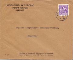Enveloppe Kuvert - Pub Reklam Uddeholms Aktiebolag Hagfors  - Till Hagfors Sverige Zweden - Postal Stationery