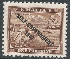 Malta. 1948-53 Self Government. ¼d MH SG 234 - Malta